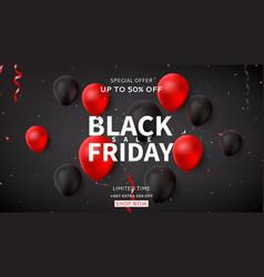 web banner for black friday sale vector image