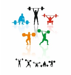 weightlifters vector image