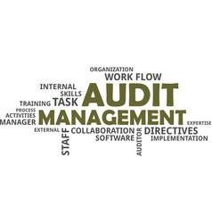 word cloud - audit management vector image