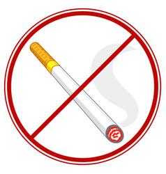 cigarette ban symbol vector image vector image