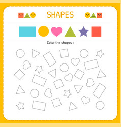 coloring multiple shapes learn shapes and vector image