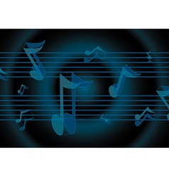Flying music notes vector image