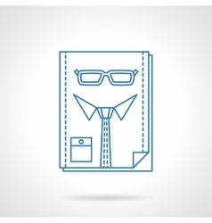 Headhunter blue flat line abstract icon vector image