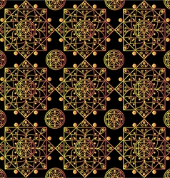 Black mandalas pattern vector image