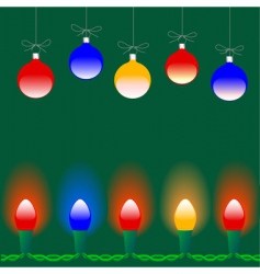 Christmas ornaments lights vector image