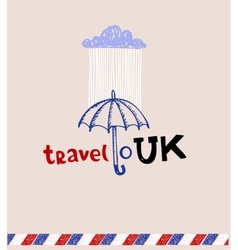 London style greeting card vector image vector image
