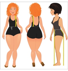 Measuring woman body vector image