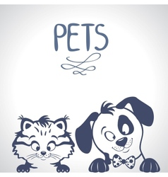 Pets silhouette vector image vector image