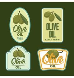Set of Olive oil badges vector image