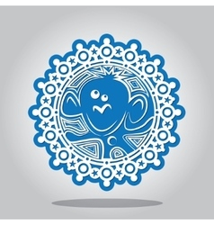 Snowflake of the Monkey on the Chinese zodiac vector image vector image