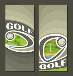 vertical banners for golf vector image vector image
