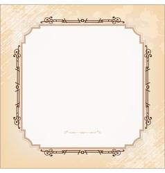 Vintage imperial frame grunge background vector image
