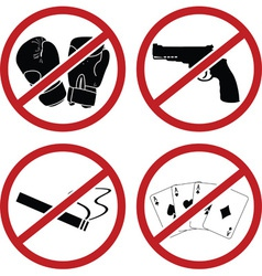 warning signs for public place vector image vector image