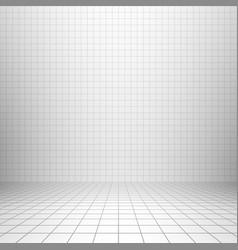 interior backdrop with grid vector image vector image