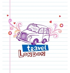 London cab vector image