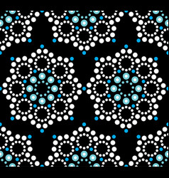 seamless pattern aboriginal dot painting vector image vector image