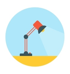Table lamp flat icon vector image