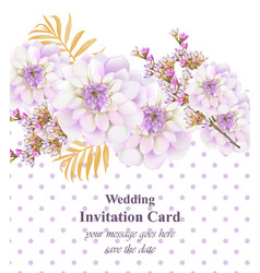 vintage floral card beautiful dotted background vector image