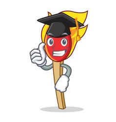 Graduation match stick character cartoon vector