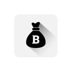 money sack with bitcoin sign icon digital web vector image vector image