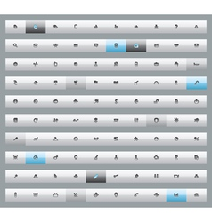 Set of 100 interface buttons vector image vector image