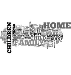 A chance for a home text word cloud concept vector