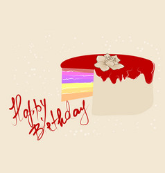 Abstract festive cake vector
