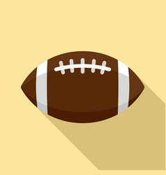 american football leather ball icon flat style vector image