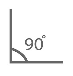 Angle icon angle 90 degrees icon on white vector