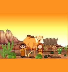 arabian in the desert vector image