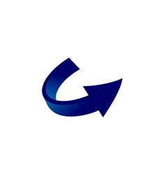 arrow blue logo vector image