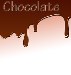 Background with chocolate streaks vector