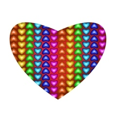 Big beautiful multicolored heart vector image