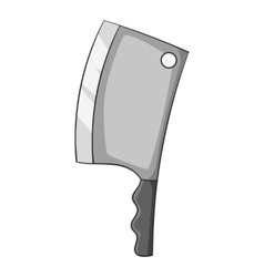 Big knife icon cartoon style vector