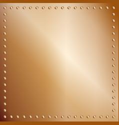 Bronze plate backdrop vector
