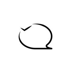 bubble line icon vector image