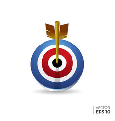 bulls eye icon isolated on white vector image