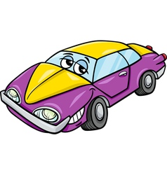 Car character cartoon vector