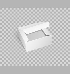 Carton box with open top empty package vector