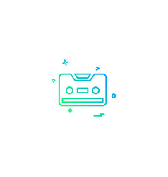 cassette icon design vector image