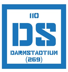 Darmstadtium chemical element vector image