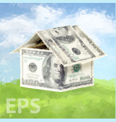 Dollars money house vector