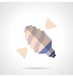 Eco lamp flat color design icon vector image