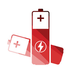 electric battery icon vector image