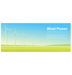 Energy concept background with wind turbine vector