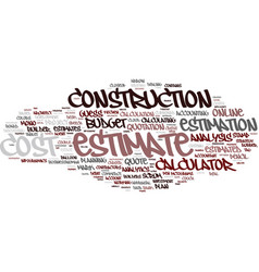Estimation word cloud concept vector