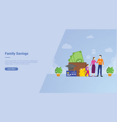 Family savings financial planing to medical vector