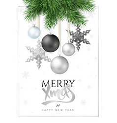 fir-tree branches with vector image vector image