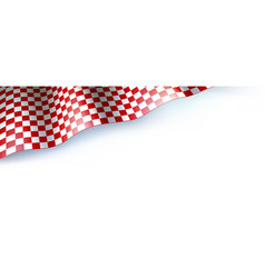 Flag for car race or motorsport rally on white vector