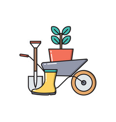 gardening concept icon isolated on white vector image